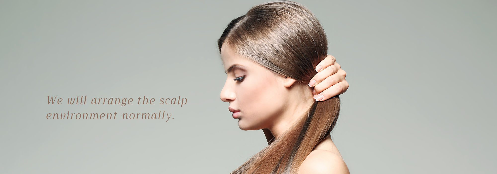 We will arrange the scalp environment normally